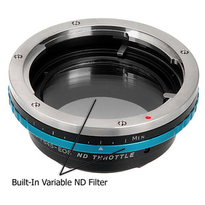 Vizelex ND Throttle Lens Mount Adapter - Pentax 645 (P645) Mount SLR Lens to Canon EOS (EF, EF-S) Mount SLR Camera Body with Built-In Variable ND Filter (1 to 8 Stops)
