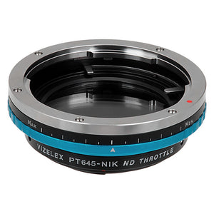 Pentax 645 (P645) Mount SLR Lens to Nikon F Mount SLR Camera Body Adapter