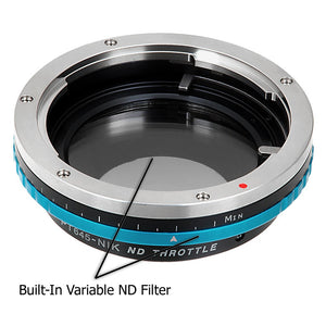 Vizelex ND Throttle Lens Mount Adapter - Pentax 645 (P645) Mount SLR Lens to Nikon F Mount SLR Camera Body with Built-In Variable ND Filter (1 to 8 Stops)