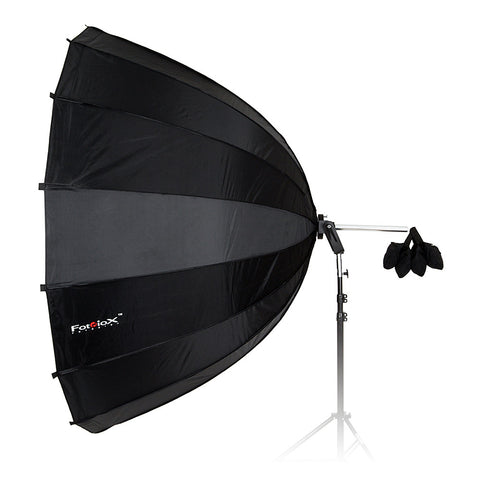 Fotodiox Parabolic Softbox - 80in (200cm) with Bowens Speedring for Bowens, Calumet, Interfit and Compatible Lights - Silver Reflective Interior with Double Diffusion Panels - Replenishment Is Pending As of 11/12/2018