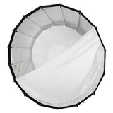 Fotodiox Parabolic Softbox - 80in (200cm) with Bowens Speedring for Bowens, Calumet, Interfit and Compatible Lights - Silver Reflective Interior with Double Diffusion Panels