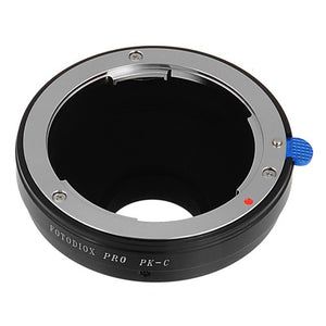 "Fotodiox Pro Lens Adapter - Compatible with Pentax K Mount (PK) SLR Lenses to C-Mount (1"" Screw Mount) Cine & CCTV Cameras"