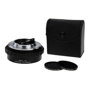 Fotodiox DLX Stretch Lens Mount Adapter - Pentax K Mount (PK) SLR Lens to Fujifilm Fuji X-Series Mirrorless Camera Body with Macro Focusing Helicoid and Magnetic Drop-In Filters