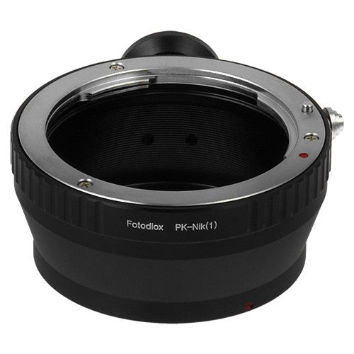 Fotodiox Lens Mount Adapter - Pentax K (PK) Lens to Nikon 1-Series Mirrorless Camera Body
