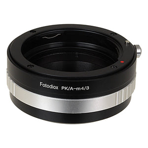 Pentax K SLR Lens to Micro Four Thirds (MFT, M4/3) Mount Mirrorless Camera Body Adapter