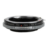 Fotodiox Pro Lens Mount Adapter - Pentax K AF Mount (PKAF) DSLR Lens to Nikon F Mount SLR Camera Body with Built-In De-Clicked Aperture Control Dial