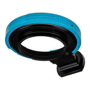 Fotodiox Pro Lens Mount Adapter - Arri PL (Positive Lock) Mount Lens to Canon EOS (EF, EF-S) Mount SLR Camera Body (Blue Ring)