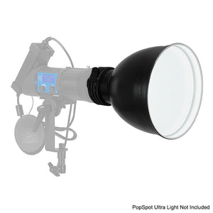 "PopSpot Ultra 10"" Wide Reflector from Fotodiox Pro - White Interior"