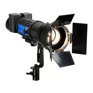 Fotodiox Pro PopSpot Ultra 50 Bi-Color 3x Light Kit - Kit of Three Focusing LED Lights w/ Rolling Case, High-Intensity Bi-Color LED 3200k-5600k Focusable Spot Light for Still and Video