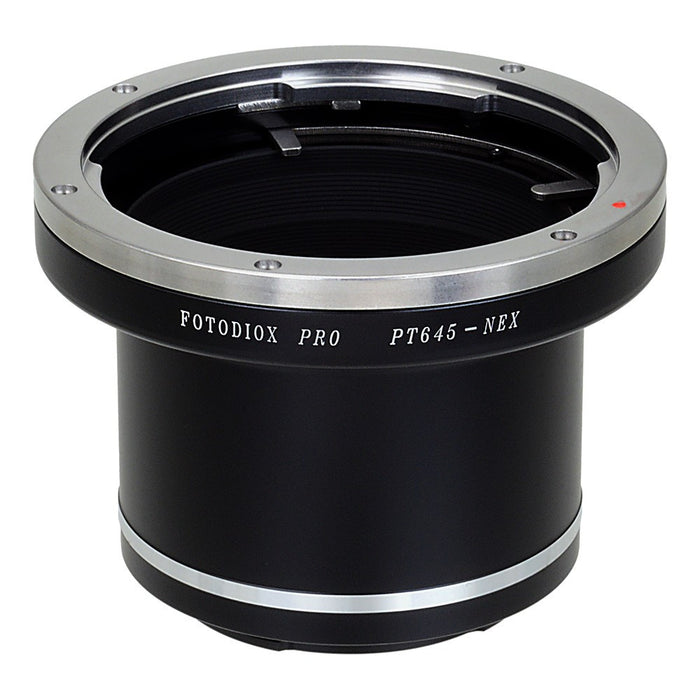 Fotodiox Pro Lens Mount Adapter - Pentax 645 (P645) Mount SLR Lens to Sony Alpha E-Mount Mirrorless Camera Body