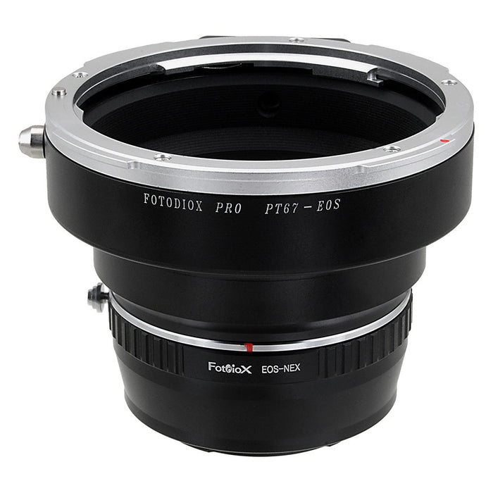 Fotodiox Pro Lens Mount Adapter - Pentax 6x7 (P67, PK67) Mount SLR Lens to Sony Alpha E-Mount Mirrorless Camera Body