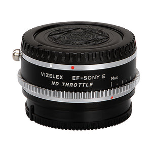 Vizelex ND Throttle Lens Mount Adapter - Rollei 35 (SL35) SLR Lens to Sony Alpha E-Mount Mirrorless Camera Body with Built-In Variable ND Filter (1 to 8 Stops)