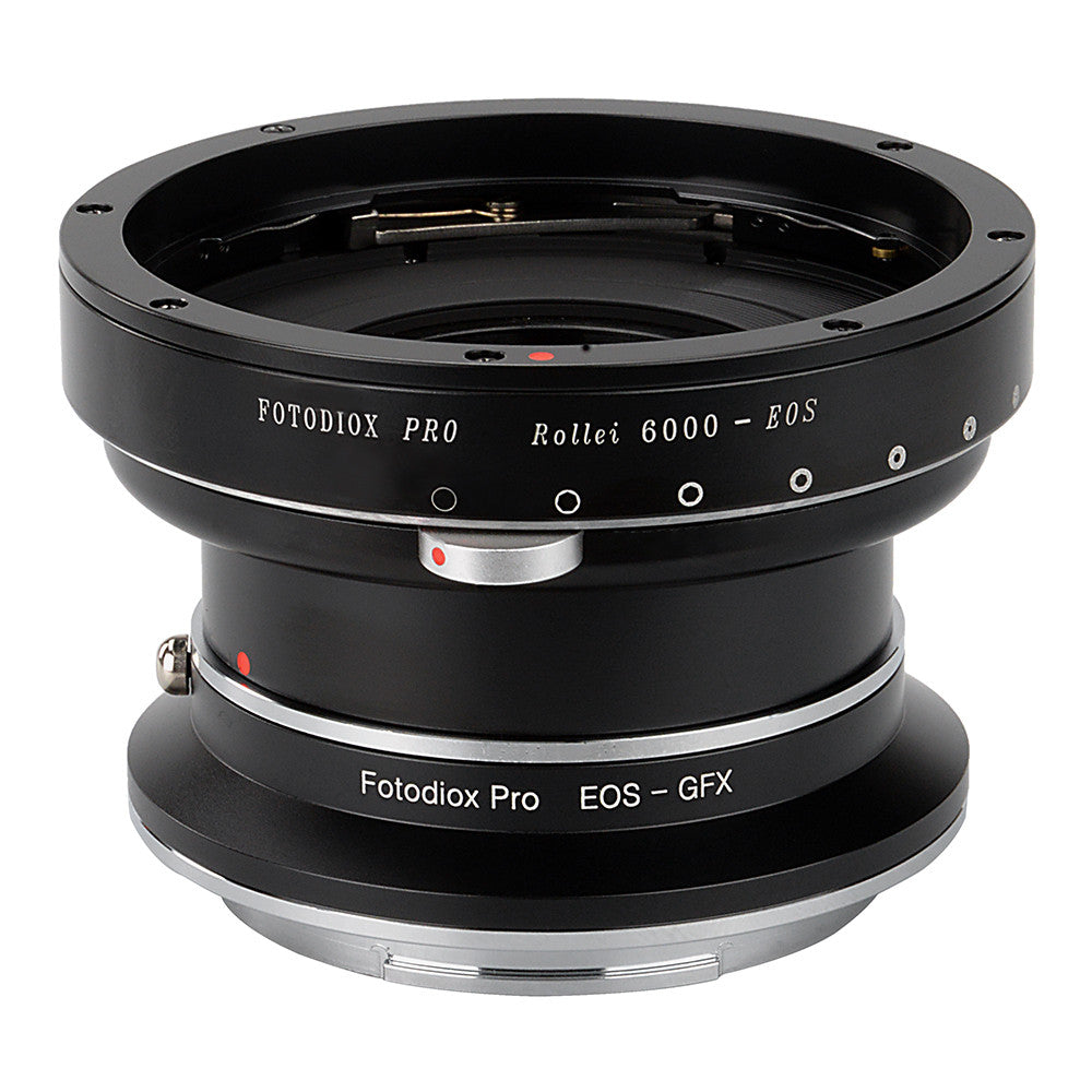 Fotodiox Pro Lens Mount Double Adapter - Rollei 6000 (Rolleiflex) Series  and Canon EOS (EF / EF-S) D/SLR Lenses to Fujifilm Fuji G-Mount GFX