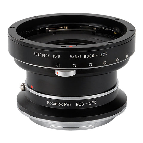Fotodiox Pro Lens Mount Double Adapter - Rollei 6000 (Rolleiflex) Series and Canon EOS (EF / EF-S) D/SLR Lenses to Fujifilm Fuji G-Mount GFX Mirrorless Digital Camera Systems (such as GFX 50S and more)