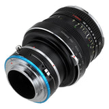 Fotodiox Pro Lens Mount Shift Adapter - Rollei 6000 (Rolleiflex) Series Lenses to Sony Alpha E-Mount Mirrorless Camera Body