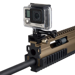RAIL DOGZ 3-Prong Gun Rail Mount for GoPro HERO 2-Prong Mounting System - All Metal Camera Mount for Picatinny Rails