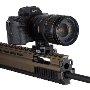 RAIL DOGZ Low Profile Gun Rail Mount for Small Cameras  - All Metal Camera Mount for Picatinny Rails