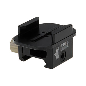 RAIL DOGZ Quick Release Gun Rail Mount for GoPro HERO Mounting Buckle System - All Metal Camera Mount for Picatinny Rails