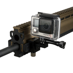 RAIL DOGZ 3-Prong Side Gun Rail Mount for GoPro HERO 2-Prong Mounting System - All Metal Camera Mount for Picatinny Rails