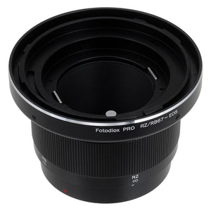 Fotodiox Pro Lens Mount Adapter - Mamiya RB67/RZ67 Mount Lens to Canon EOS (EF, EF-S) Mount SLR Camera Body with Built-In Focusing Helicoid
