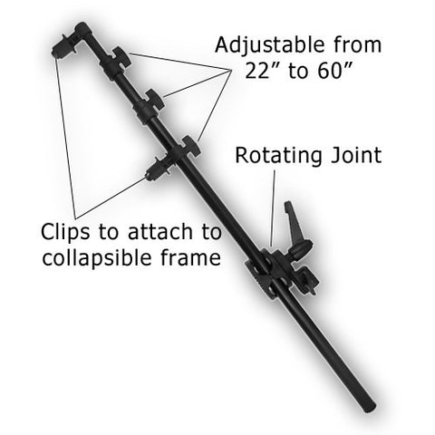 "60"" Reflector Arm w/ Universal Grip"
