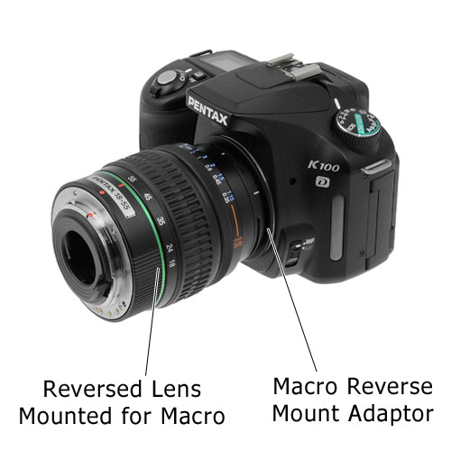 Macro Reverse Ring for Pentax - Camera Mount to Filter Thread Adapter for Pentax K Camera Mounts
