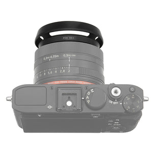 Fotodiox Lens Hood for the Sony Cyber-Shot DSC-RX1/RX1R/RX1R II, Metal Bayonet Lens Hood for the Sony RX1, RX1R, RX1RII Digital Cameras (replaces Sony LHP1)