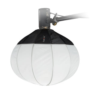 Fotodiox Lantern Softbox with Novatron Speedring for Novatron FC-Series, M-Series, and Compatible - Collapsible Globe Softbox with Partial Silver Reflective Interior and Soft Diffusion Panels