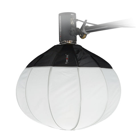 Fotodiox Lantern Softbox with Quantum Qflash Speedring for Quantum, TRIO Flash and Compatible - Collapsible Globe Softbox with Partial Silver Reflective Interior and Soft Diffusion Panels