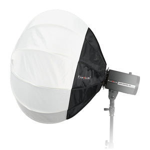Fotodiox Lantern Softbox with Multiblitz P Speedring for Multiblitz P, Compact, and Compatible - Collapsible Globe Softbox with Partial Silver Reflective Interior and Soft Diffusion Panels
