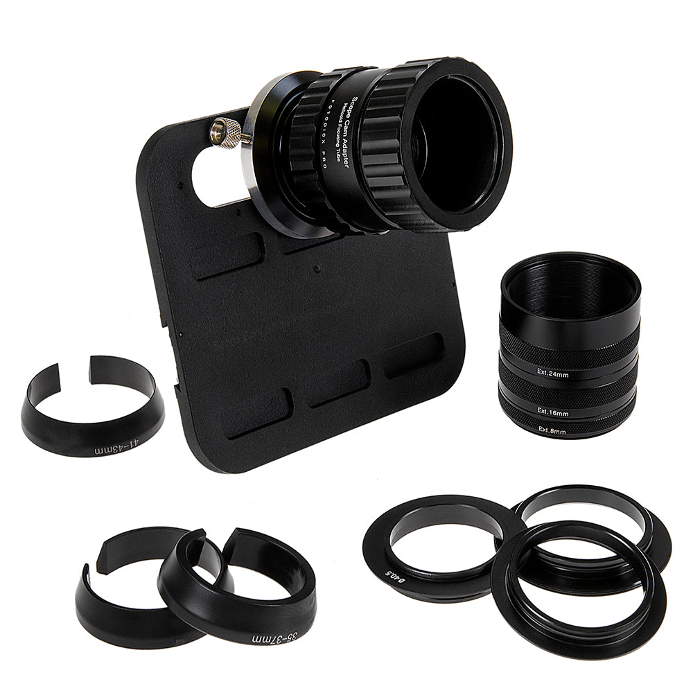 Cam Tube scope cam adapter kit - camera and smartphone adapter for