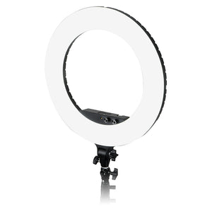 Fotodiox Selfie Starlite Vlog Light - 18in Bi-Color Dimmable LED Ring Light for Portrait, Photography, Makeup, YouTube, Live Streaming Video and more