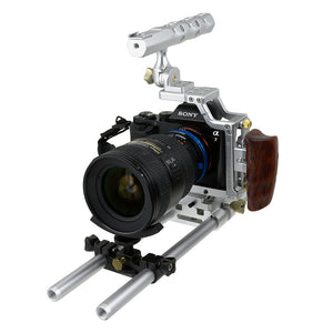 Fotodiox Pro Cinema Sharkcage for Sony α7-Series Cameras (α7, α7R, α7S) - Skeleton Housing, Protective Video Cage