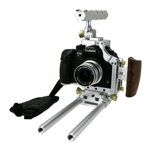 Fotodiox Pro Cinema Sharkcage for Panasonic GH4 Camera (Panasonic Lumix DMC-GH4) - Skeleton Housing, Protective Video Cage