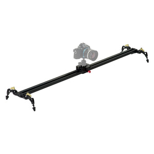 "Fotodiox Pro SlideCam 1000 - 39"" Video Slider Stabilizer, DSLR Camera Track Slider, Linear Stabilization Rail System With Ball-Bearing Slide Mechanism, Adjustable Legs and Carrying Case"