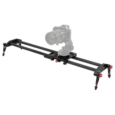 Fotodiox Pro SlideCam Elite- Advanced Video Slider Stabilizer, DSLR Camera Track Slider, Dual Stabilization Rail System, Adjustable Legs and Carrying Case