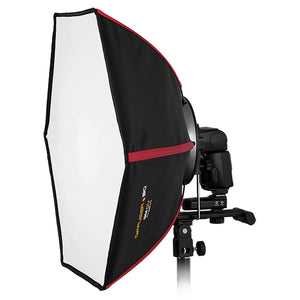 "SMDV Diffuser 50 Smart Softbox Kit with Flash Wave III Radio Flash Trigger System - Professional 20x22"" Rigid Softbox for Speedlight Flash"