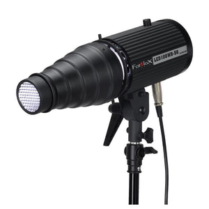 Fotodiox Snoot with 20 Degree Grid and 4 Color Gels for Balcar and Paul C Buff (AlienBees, Einstein, White Lightning) Compatible Lights
