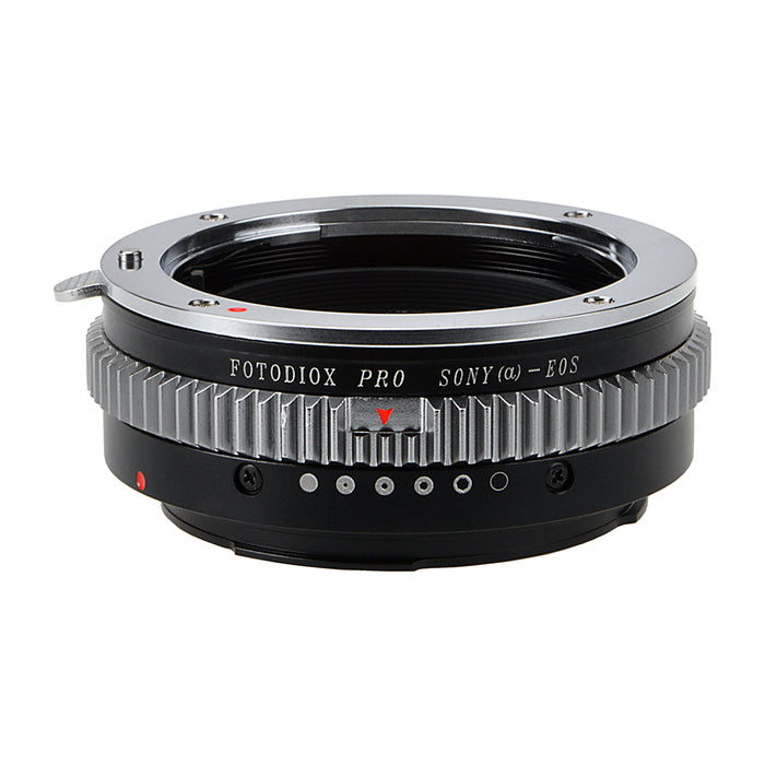 Fotodiox Pro Lens Mount Adapter - Sony Alpha A-Mount (and Minolta AF) DSLR Lens to Canon EOS (EF, EF-S) Mount SLR Camera Body, with Built-In Aperture Control Dial