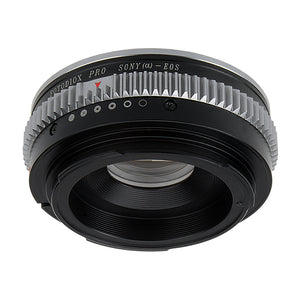 Fotodiox Pro Lens Mount Adapter Compatible with Sony Alpha A-Mount (and Minolta AF) DSLR Lens to Canon EOS (EF/EF-S) Mount DSLR Camera Body - with Aperture Control and Gen10 Focus Confirmation Chip