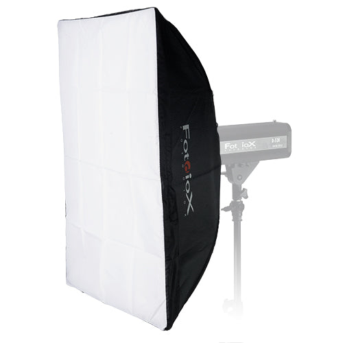 "Fotodiox Softbox 20x28"" (50x70cm) with Universal Speedring for 2.5-3.75"" Diameter Strobes w/ No Bayonet Mount (such as Godox Mini & Photogenic PG)"