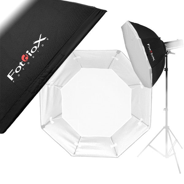 Fotodiox Pro Softbox with Elinchrom Speedring for Elinchrom, Calumet Genesis, and Compatible - Standard Softbox with Silver Reflective Interior with Double Diffusion Panels