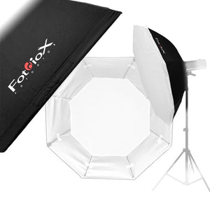 "Fotodiox Pro 48"" Softbox with 3-6"" Diameter Strobe Heads"