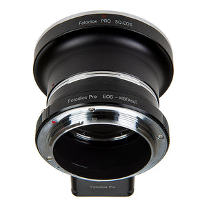 Fotodiox Pro Lens Mount Double Adapter, Bronica SQ Mount and Canon EOS (EF / EF-S) D/SLR Lenses to Hasselblad XCD Mount Mirrorless Digital Camera Systems (such as X1D-50c and more)
