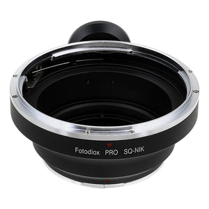 Bronica SQ Mount Lens to Nikon F Mount SLR Camera Body Adapter