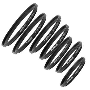Fotodiox Step-Up Ring Set - Set of 7 Anodized Aluminum Filter Adapter Rings