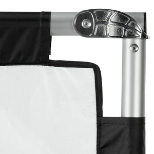 Pro Studio Solutions Sun Scrim - Collapsible Frame Diffusion & Silver/White Reflector Kit with Handle and Carry Bag