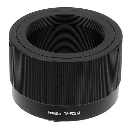 Fotodiox Lens Mount Adapter - T-Mount (T / T-2) Screw Mount SLR Lens to Canon EOS M (EF-M Mount) Mirrorless Camera Body