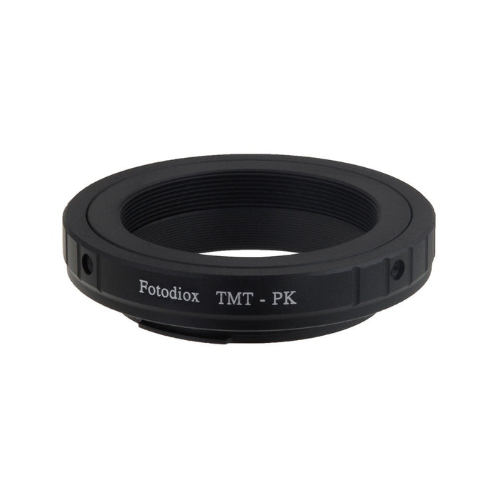 Fotodiox Lens Mount Adapter - T-Mount (T / T-2) Screw Mount SLR Lens to Pentax K (PK) Mount SLR Camera Body