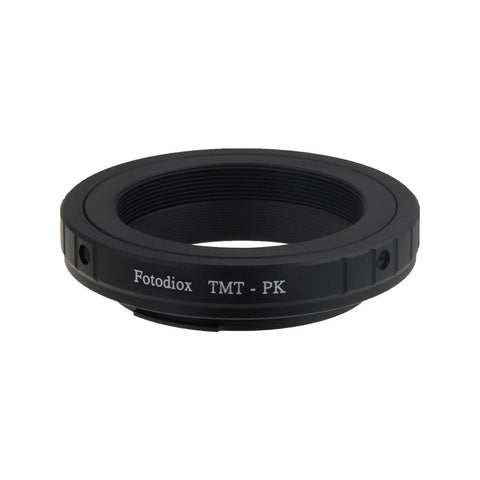 T-Mount (T / T-2) Screw Mount SLR Lens to Pentax K (PK) Mount SLR Camera Body Adapter